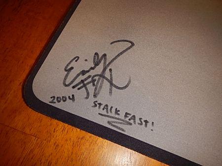 stack mat emily fox autograph