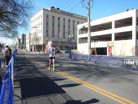 Fighting through full-on leg cramps at the finish.