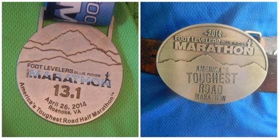 Blue Ridge Marathon medal
