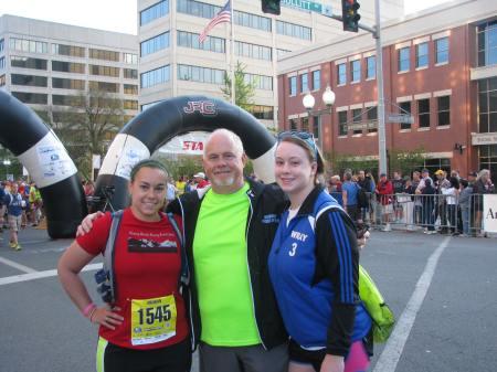 With Dad and little sister at 2015 Blue Ridge Half Marathon