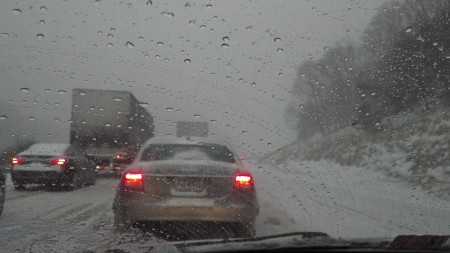 Interstate 81 snow storm traffic