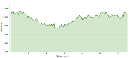 2015 elevation profile HokieHalf