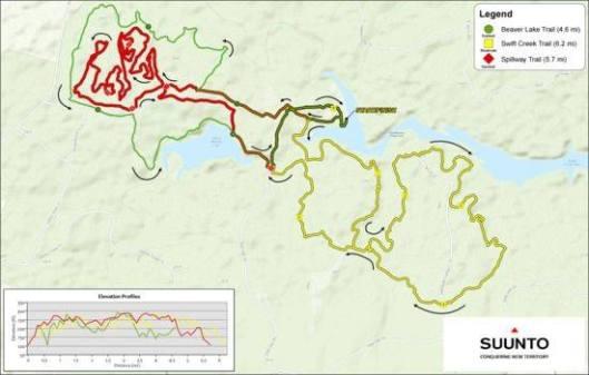 course map ragnar trail