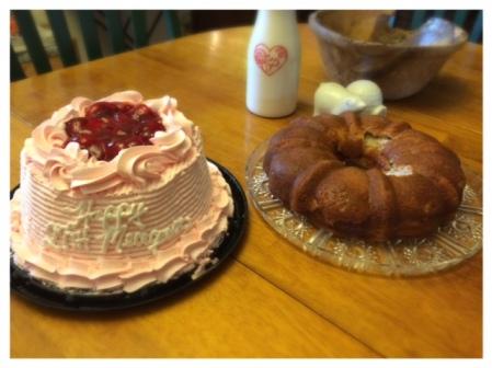 Birthday Cakes Strawberry Angel Food Cake