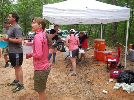 Conquer the Cove 25K aid station