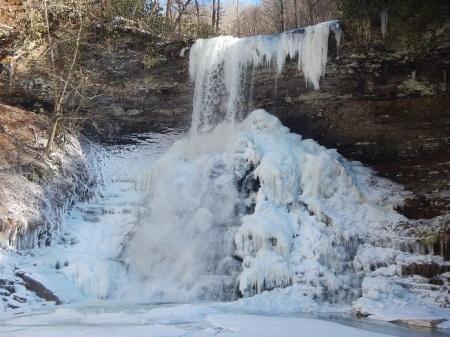 Cascade Falls frozen