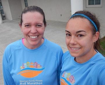 running buddies matching shirts American Family Fitness Half Marathon 2012 Shirt