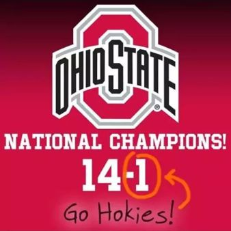 ohio state national champions football ohio state virginia tech football
