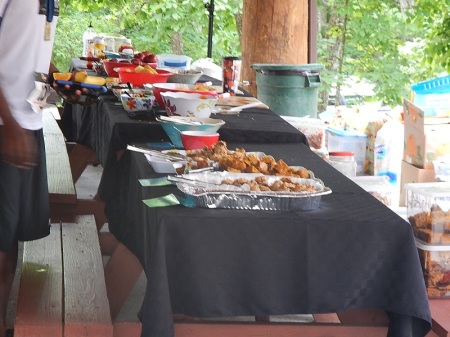 Conquer the Cove trail race post-race food