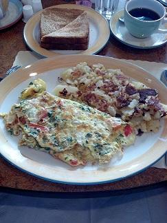 29 Diner Spinach, Feta, Tomato omelet omelette