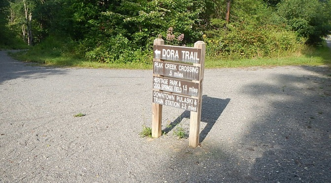 Dora Trail junction with New River State Park Trail