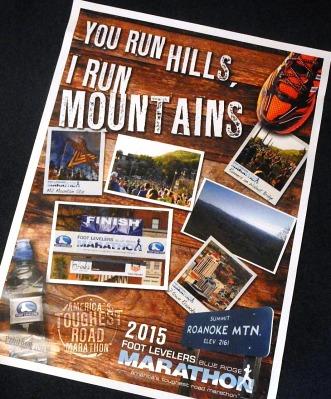 Blue Ridge Marathon poster