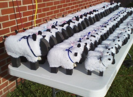 Varmint 1/2 Marathon sheep trophies