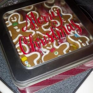 Christmas cookies Christmas cookie tin