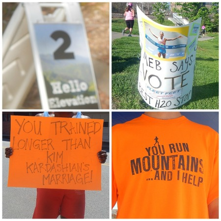 2014 Blue Ridge Marathon signs